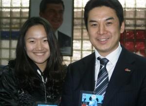 Assistentin Ye Wang und Coach Keisuke Araki (Bild: zweiteliga.org).