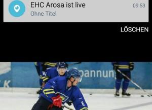 Mit dem EHC Arosa Scope können die Spiele weltweit mitverfolgt werden (Bild: zVg/EHC Arosa).
