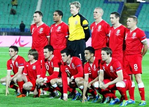 Das Nationalteam von Wales (Bild: Wikipedia/Biser Todorov).