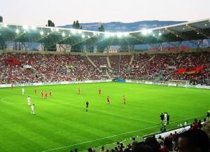 Albanien in einem Spiel gegen die Schweiz (Bild: Wikipedia/Albinfo).