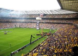 Das Twickenham Stadion, einer der Austragungsorte der Rugby-WM (Bild: Wikipedia/Jamie Smith).