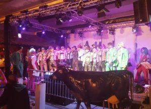 Die Spieler des SC Langenthal beim Oktoberfest des Clubs (Bild: zweiteliga.org).