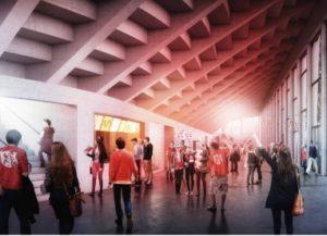 Innenansicht der geplanten Eishalle (Bild: EHC Visp).