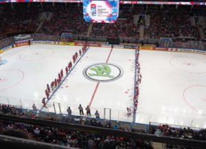Die Arena von Dynamo Moskau während der Eishockey-WM in Russland (Bild: Wikipedia/Elena Wiki Elena).