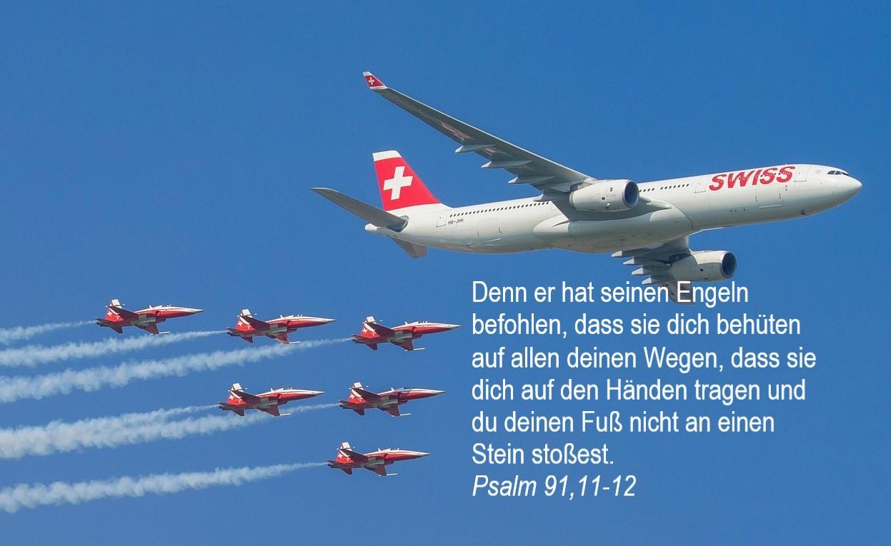 Patrouille Suisse mit Airbus A330 – mit starkem Psalm