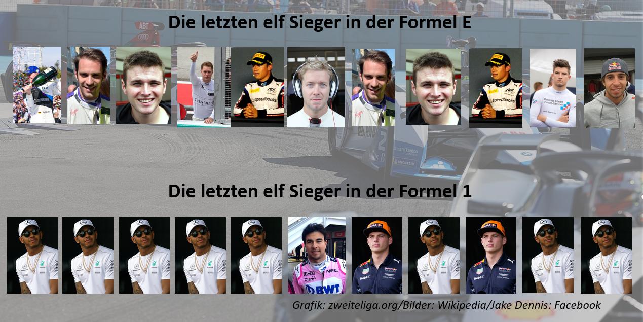 Darum ist die Formel E spannender als die Formel 1 – Elf Rennen acht zu drei Sieger